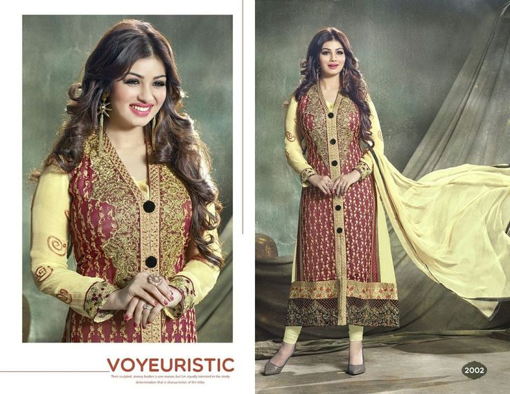 Designer SemiStitched Salwar Kameez Faux Georgette Dress Material Suit 57602