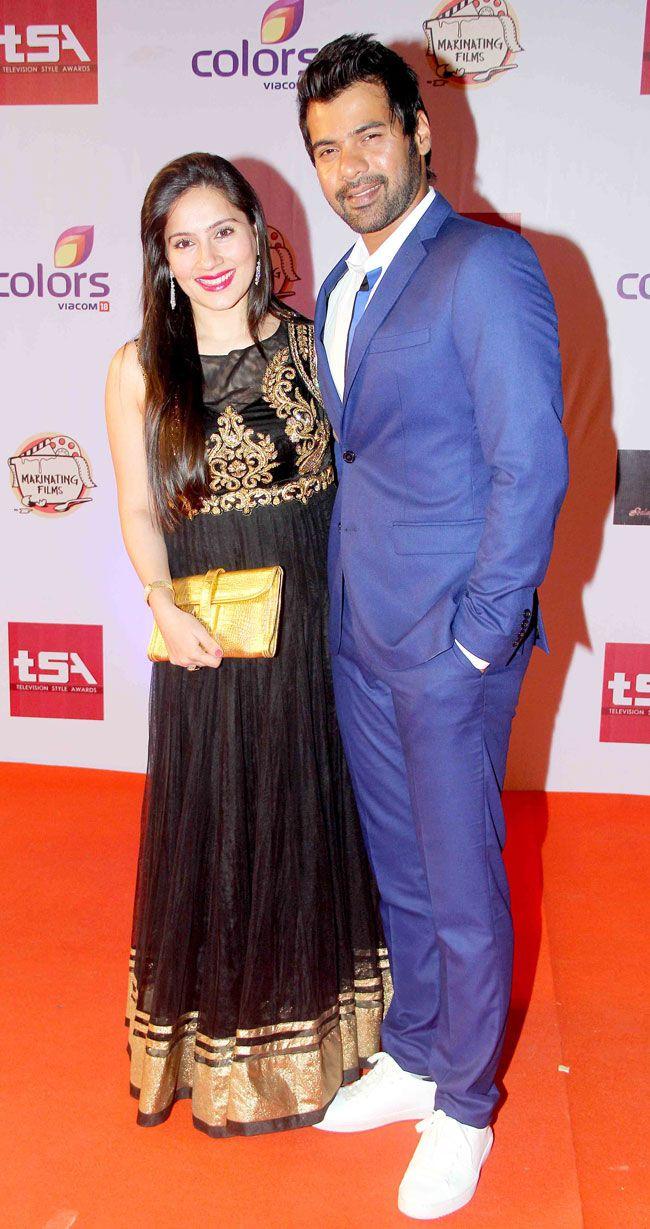 Shabbir Ahluwalia and Kanchi Kaul at the Television Style Awards.