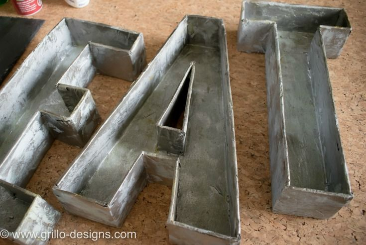 3D FAUX METAL LETTERS TUTORIAL - FROM CARDBOARD