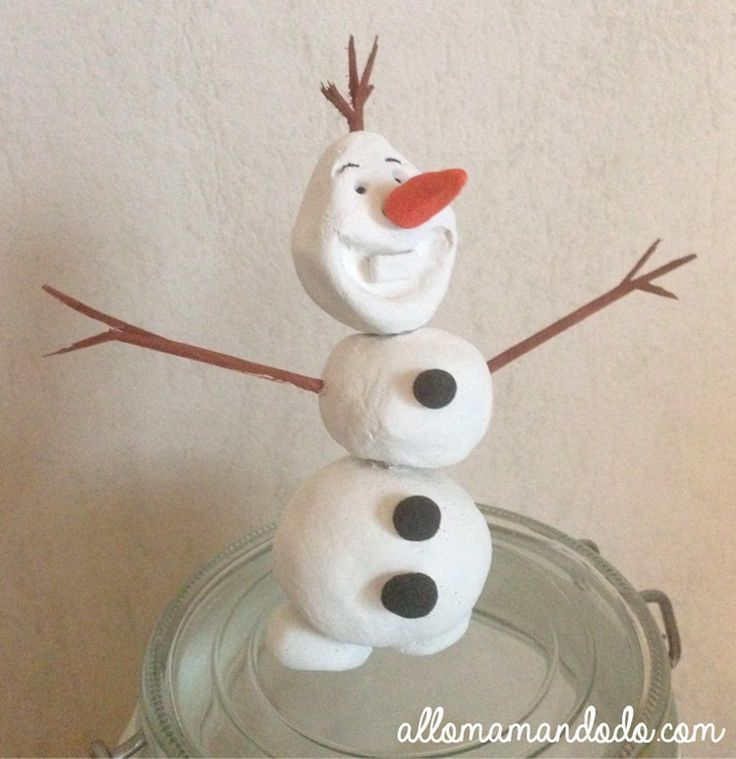 olaf pate a selDIY OLAF frozen modelage pate à modeler http://allomamandodo.com/tes-decos-noel-diy-tuto-olaf-en-modelage-giotto/