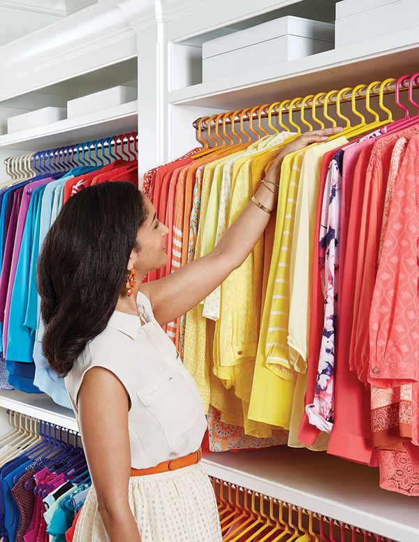 Can you imagine a color-coded closet? We can. Our Tubular Hanger make it easy!