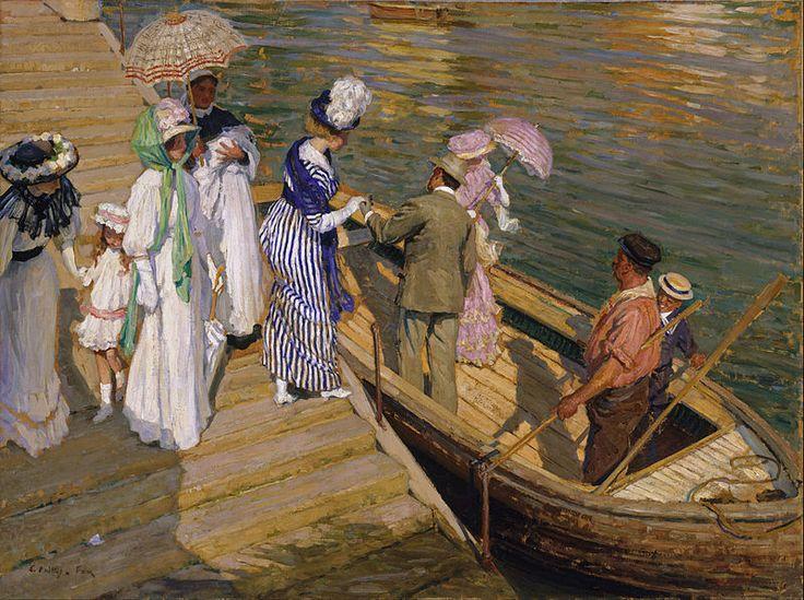 Fox, Phillips, (1865-1915), The Ferry, 1911, Oil