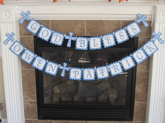 Baptism Banner by EandEGoodies on Etsy, $20.00