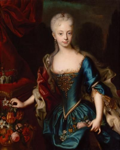 Empress Maria Theresa at the age of eleven. ca. 1727. Andreas Möller.    Oil on canvas.