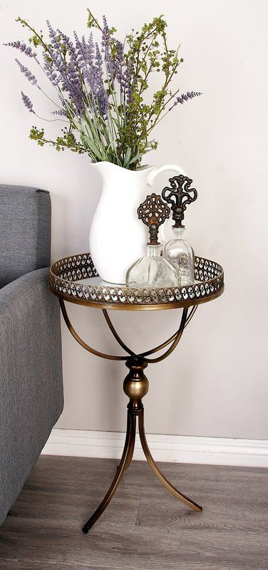 metal and mirror tray end table sidetable pinterest mirror rh pinterest com