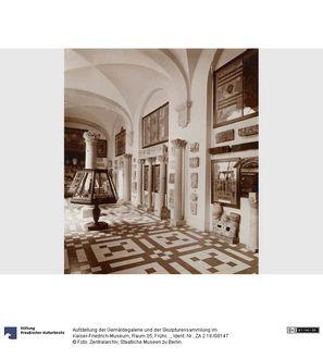 Aufstellung der Gemäldegalerie und der Skulpturensammlung im Kaiser-Friedrich-Museum, Raum 05, Frühchristlich-Byzantinische Kunst