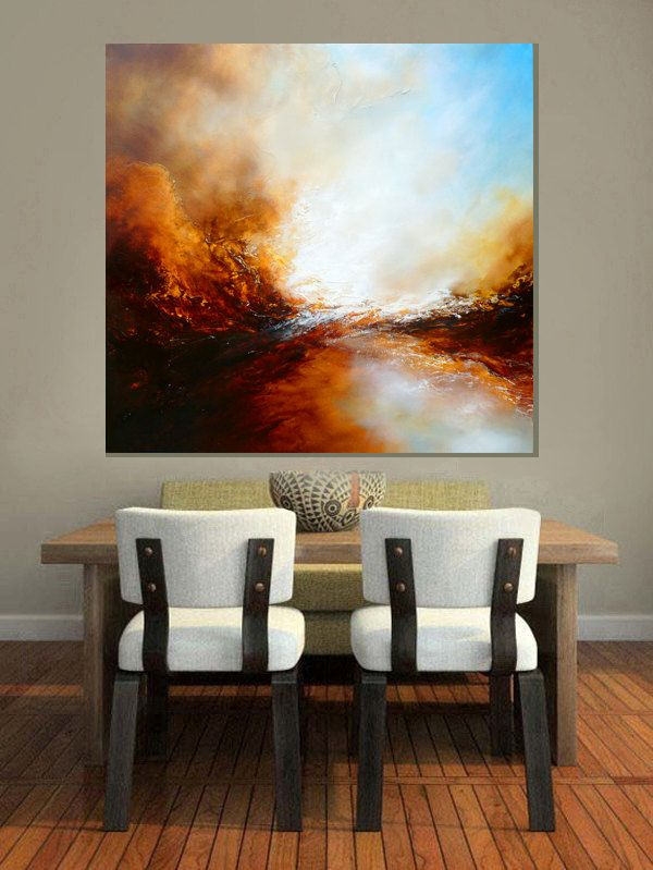 "Large Canvas Abstract Painting by Simon Kenny "" The Ages of Avalon"". £1,899.00, via Etsy."