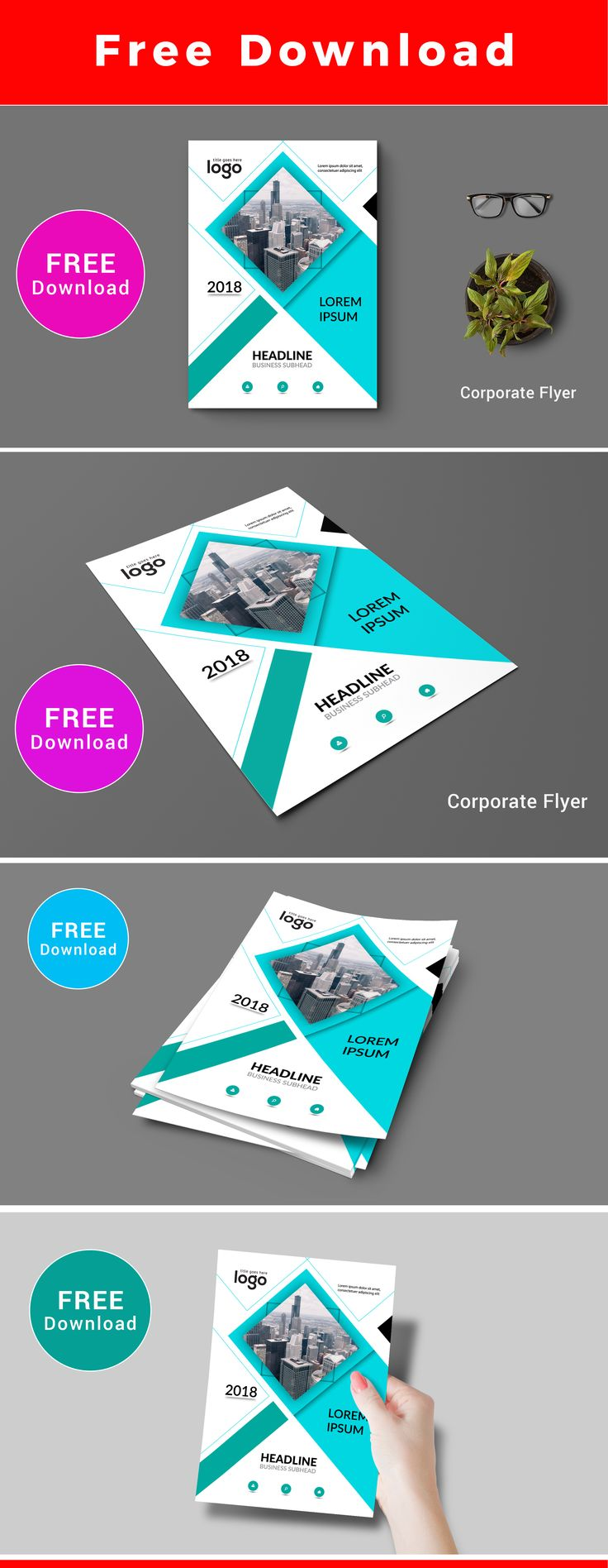 Free Download Flyer #free #download #creative #mnimal #fashione #corporate #