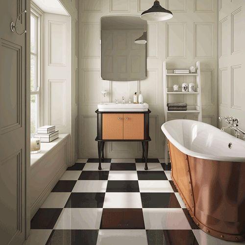Greenwich - Boat Bath light grey walls  #cphart50shades