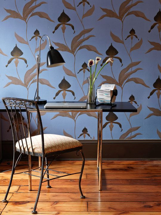 Loving this Cole & Son wallpaper - Traditional Home®