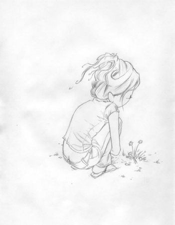 kurt halsey lonely girl sketch illustration amp prints