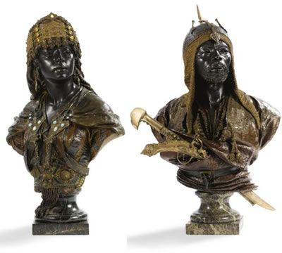 Representation of moors in sculpture