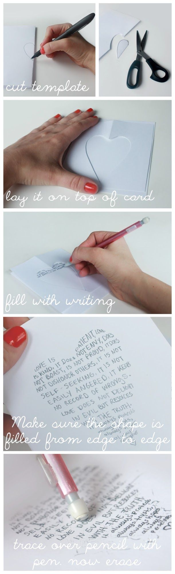 """We Lived Happily Ever After: Use Cookie Cutters to """"Write Shapes"""" on Greeting Cards!"""