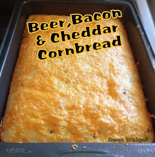 Beer, Bacon and Cheddar Cornbread | 21 AMAZING CORNBREAD RECIPES YOU MUST HAVE!