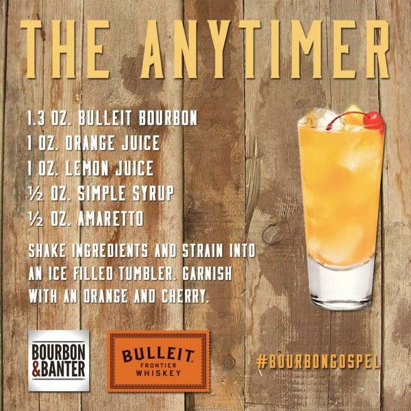 Anytimer Cocktail with Bulleit Bourbon