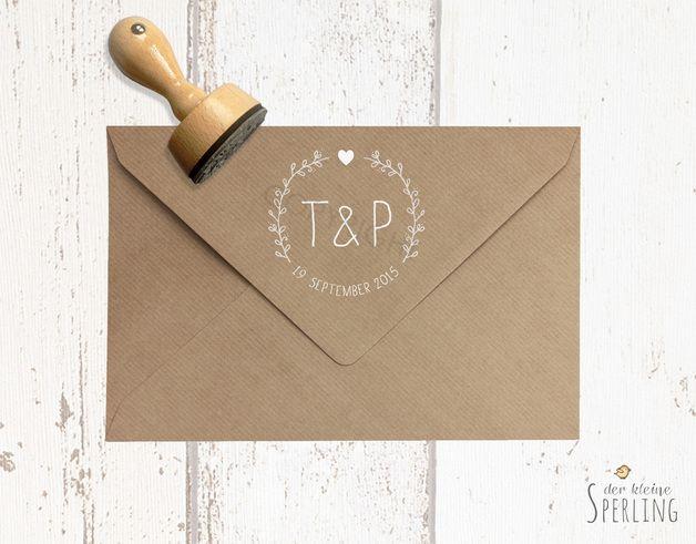 Einladungskarten - STEMPEL . Hochzeits stempel - ein Designerstück von DerkleineSperling-Stempel bei DaWanda
