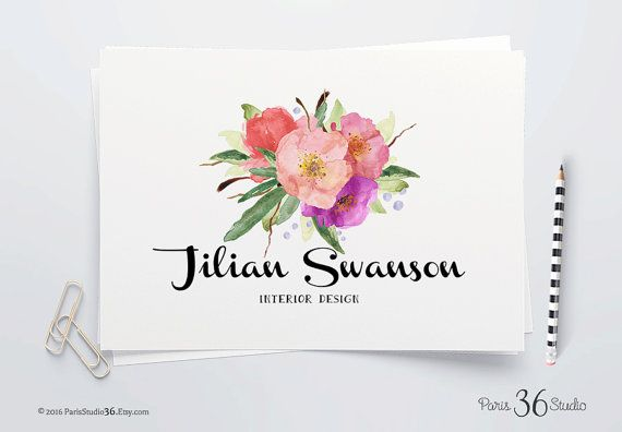 Watercolor Floral Logo Instant Download Logo Photoshop Logo PSD Logo Template Instant Logo Premade Logo Photography Logo Website Logo Blog *Your digital download includes: :: One Layered PSD (Photoshop) file with sample text, artwork (flattened and transparent) and free font info (links to download). :: 300 DPI :: approx. 10x10 :: File created with Photoshop CS6  In addition, you will receive a PDF with more than a dozen FREE fonts to download (with links) for you to replace the fonts used…