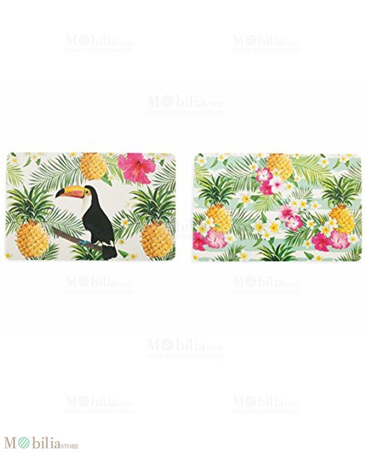 Tovagliette in Pvc Villa d'Este, porteranno sulla tua tavola colori e decori tropicali, vieni a scoprirle su Mobilia Store.