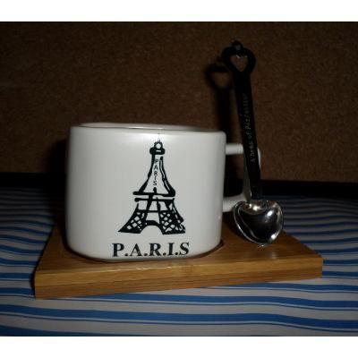 Taza Imantada De Ceramica - New York - Paris - Londres - $ 149,99