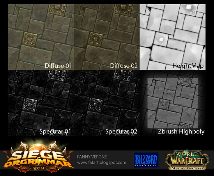 """Hello guys !    I would like to share with you my work done on World of Warcraft as texture artist for the new patch """"Siege Of Orgrimmar""""."""