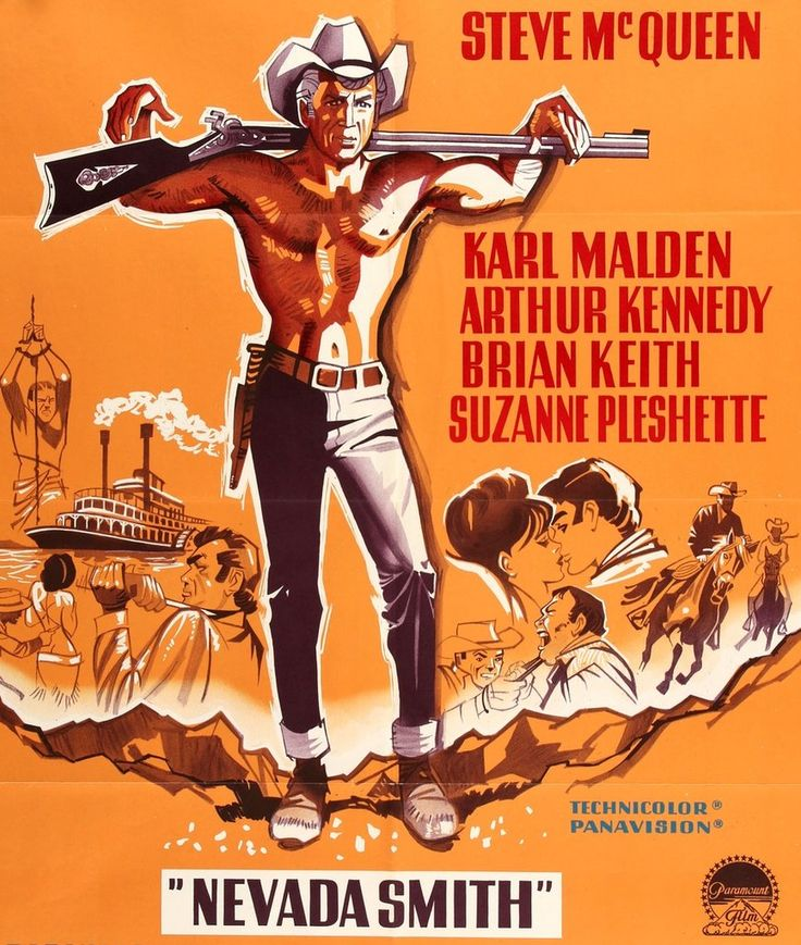 Nevada Smith (1966) Original Danish Movie Poster