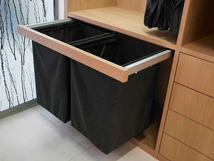 Impressive Laundry Hamper In Closet Contemporary With Pull