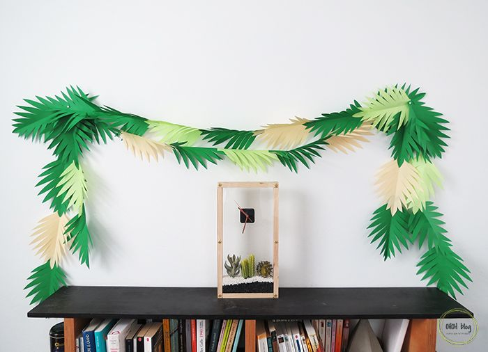 Make a paper leaves garland in 30 minutes | Ohoh Blog - diy and crafts