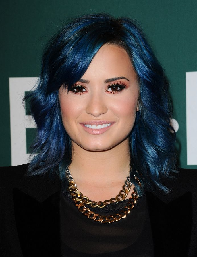 Demi Lovato Blue Hair Pictures