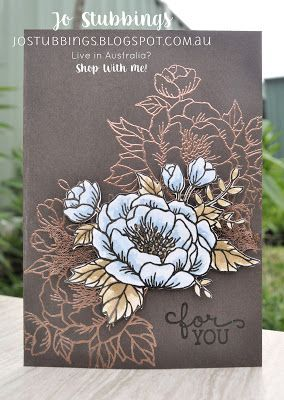 Jo's Stamping Spot - Colour INKspiration #CI11 & CASEing the Catty #CTC132 using Birthday Blooms by Stampin' Up!