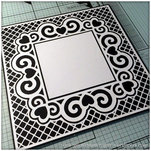 Scan It Saturday Swirly Heart Frame Cutting File For The