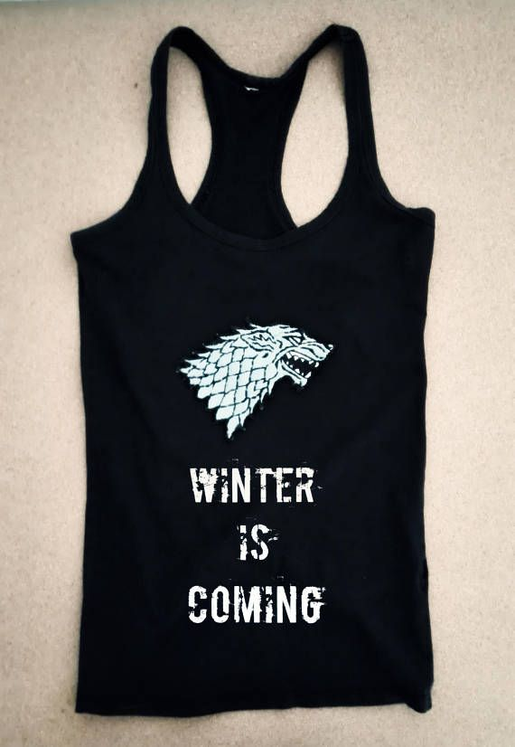 Game of Thrones House Stark Women's Tank with Handmade