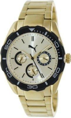 Relógio Puma Women's Challenger-S PU103192002 Gold Stainless-Steel Analog Quartz Watch with Gold Dial #Relogio #Puma