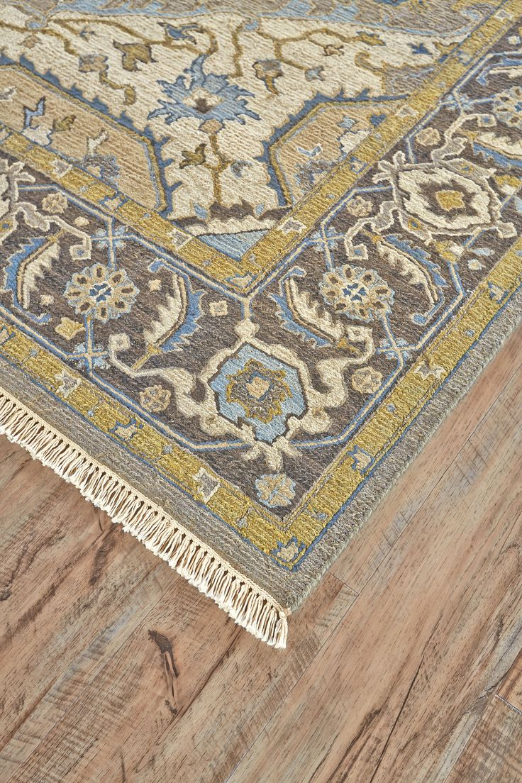 Rendered in versatile hues, this traditional rug impresses with its detailed medallion design and meticulous hand-knotted construction. We recommend a rug pad to extend the life of the rug and keep...