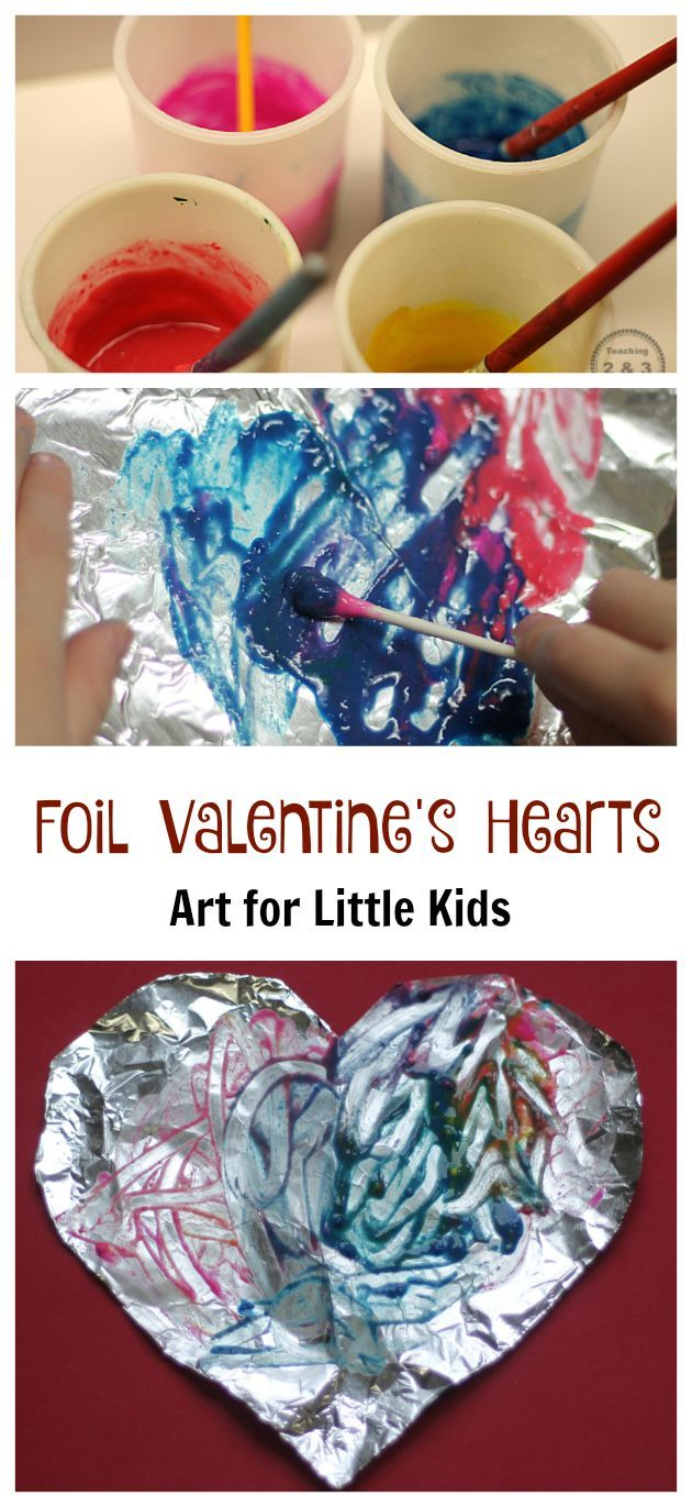 Arts and crafts for a 1 year old - Easy Valentine S Craft With Foil