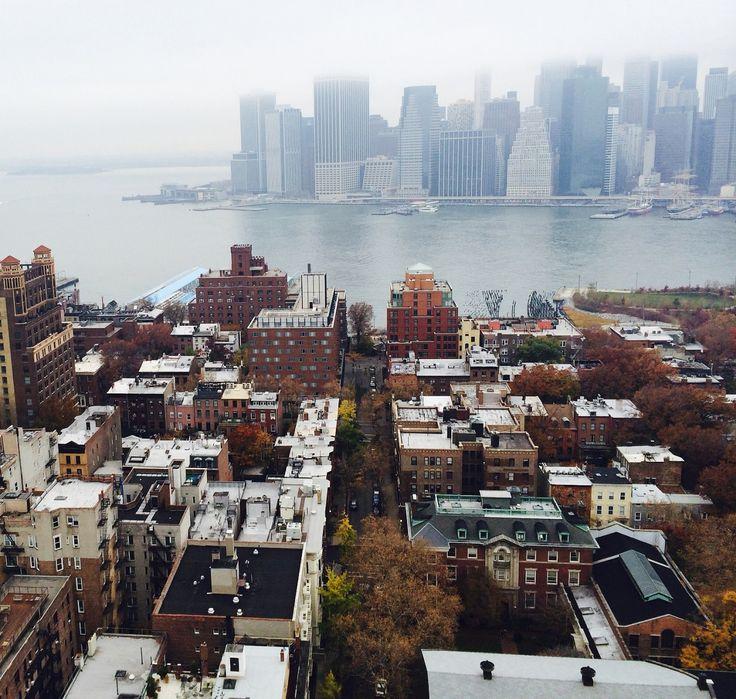 "ying-nyc: "" Foggy morning @ Brooklyn Heights """