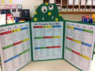 Portable Word Wall - great for writing excercises when students need to spell a word or two.