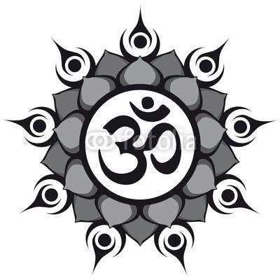 lotus and aum symbol - Google Search