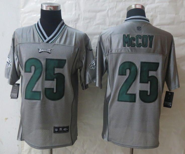 Cheap Wholesale 2014 Regular Season Mens Philadelphia Eagles #25 LeSean McCoy Nike Grey Vapor Elite Jersey Size 40-56 Instock,Factory Price,Free Shipping,Contact US