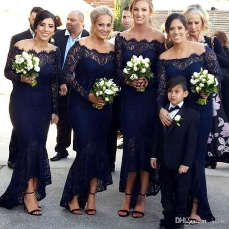 Navy Blue Lace Long Bridesmaids Dresses Off Shoulder Long Sleeve Ankle Length Wedding Party Prom Dress Sexy Bohemia Beach Bridesmaid Dress Mermaid Wedding Dress Rose Gold Sequin Dress Country Bridesmaid Dress Online with $99.43/Piece on Kazte's Store   DHgate.com