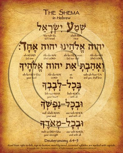 Shema In English - Printable Version | Shema Torah