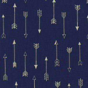Michael Miller House Designer - Arrow Flight - Arrows in Midnite Metallic