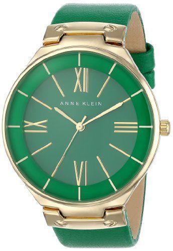 Anne Klein Women's AK/1612GNGN Gold-Tone Green Leather Strap Watch Anne Klein http://www.amazon.com/dp/B00HQW58H0/ref=cm_sw_r_pi_dp_PQhUtb18FJHR2759