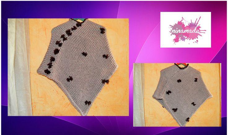 DIY. Como tejer un poncho.Muy fácil! //As weaving a poncho.Very easy!