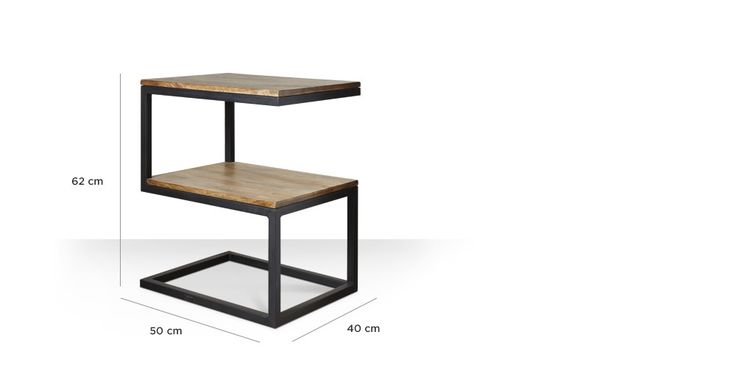 Swoon Editions Industrial style s-shaped side table - just £99