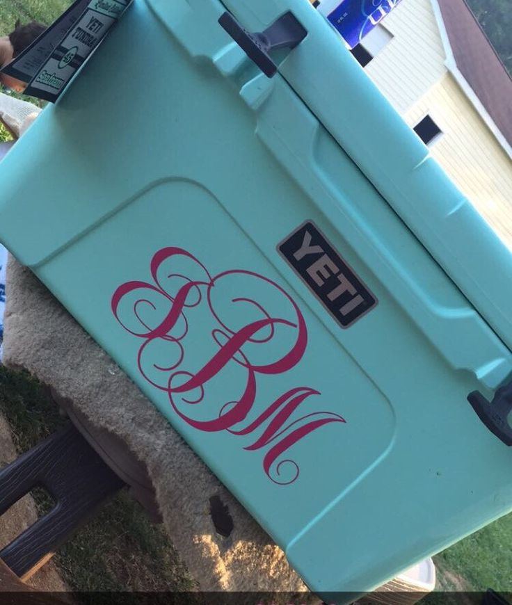 Sea foam green yeti 45, can't forget the monogram! In love!!!