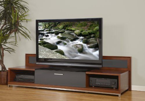"""Plateau Valencia 79 W Wood 79"""" Tv Stand, Walnut Finish by PLATEAU. $1322.49. Superior Modern Styling with real woods (Black Oak or Walnut finish).. Wide middle section for most center-channels, Shipped built (no assembly required).. End Inside Space Dimensions: 8.5"""" H x 20.5"""" W x 22.0"""" D. Middle Inside Space Dimensions: 8.0"""" H x 33.0"""" W x 22.0"""" D, Top / Bottom supports 300 lbs.. Back-light, Premium hinges.. The VALENCIA 5187 is a conversation piece: A luxurious unit that..."""