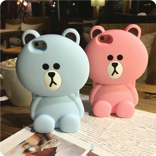 "Cute cartoon bear phone case Coupon code ""cutekawaii"" for 10% off"