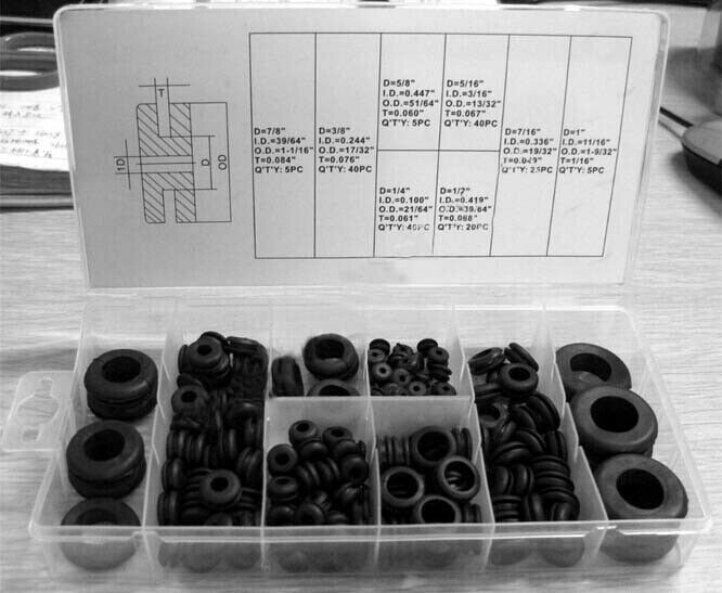 Sponsored Ebay 180 Rubber Grommet Assortment Firewall Hole Plug Set Electrical Wire Gasket Kit Rubber Grommets Grommets Electrical Wiring