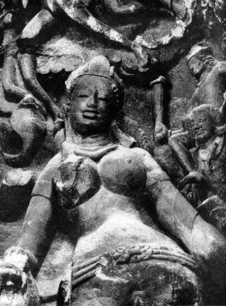 "Relief fragment ""Shiva and Parvati's wedding"". The cave temple on the Elephant island. 8 in"