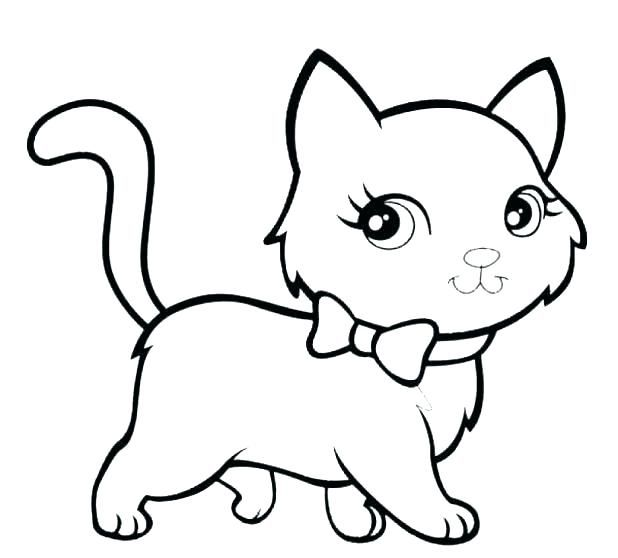Simple Shapes Coloring Pages Kitty Cat Kitty Coloring Cat Coloring Page Easy Coloring Pages